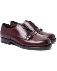 Bottega Veneta Purple Buckle-detailed Leather Derby Shoes for men