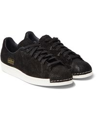 Adidas Originals Brown Superstar 80s Clean Fish Scale-effect Suede Sneakers for men