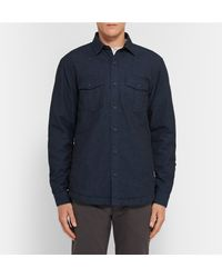 Orlebar Brown Blue Andrew Padded Denim Overshirt for men