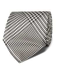 Tom Ford Black 8cm Prince Of Wales Checked Silk-jacquard Tie for men