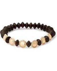 Luis Morais - Black Ebony, Gold And Diamond Bracelet for Men - Lyst