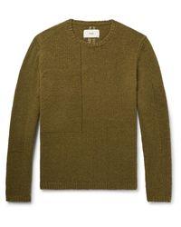 Folk - Green Interference Wool-blend Sweater for Men - Lyst