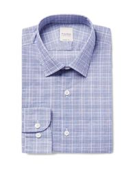 Hardy Amies - Blue Slim-fit Prince Of Wales Checked Cotton Shirt for Men - Lyst