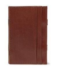 J.Crew Brown Magic Leather Wallet for men