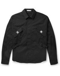 J.W. Anderson - Black Belted Cotton-blend Shirt for Men - Lyst