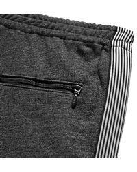 Beams Plus Gray Webbing-trimmed Mélange Loopback Cotton-jersey Sweatpants for men