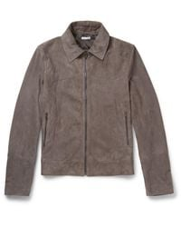 Tomas Maier - Gray Suede Jacket for Men - Lyst