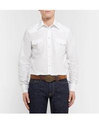 Kingsman Jean Shop Statesman 4cm Brown Leather Western Belt for men