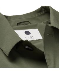 NN07 Green Tyler Shell Trench Coat for men