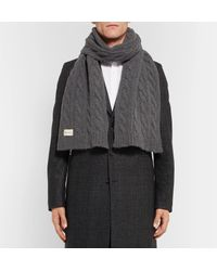Oliver Spencer - Gray Arbury Cable-knit Wool-blend Scarf for Men - Lyst