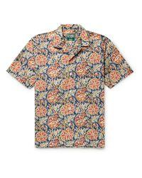 Gitman Brothers Vintage Multicolor Camp-collar Printed Cotton Shirt for men