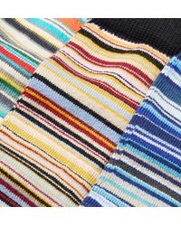 Paul Smith Multicolor Three-pack Striped Stretch Cotton-blend Socks for men