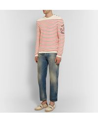 Gucci Multicolor Embroidered Striped Cotton And Cashmere-blend Sweater for men