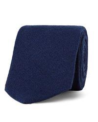 Drake's Blue 8cm Cashmere Tie for men