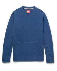 Nike   Blue Cotton-blend Tech Fleece Sweatshirt for Men   Lyst