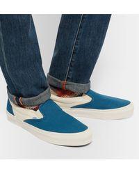 Vans Blue Og Classic Lx Two-tone Canvas Slip-on Sneakers for men