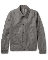 AMI Gray Slim-fit Wool-blend Blouson Jacket for men