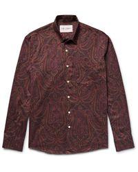 Our Legacy Multicolor Slim-fit Paisley-print Cotton-flannel Shirt for men
