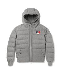 Moncler | Gray Asperge Quilted Wool-blend Hooded Down Jacket for Men | Lyst