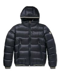 Moncler Blue Jeanbart Quilted Shell Hooded Down Jacket for men