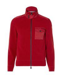 Moncler Grenoble Red Shell-trimmed Fleece Zip-up Base Layer for men
