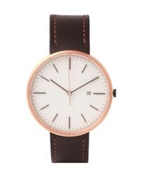 Uniform Wares - Brown M40 Rose Gold Pvd-plated Stainless Steel And Cordovan Leather Watch for Men - Lyst