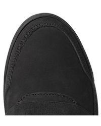 Filling Pieces Black Ghost Nubuck Sneakers for men