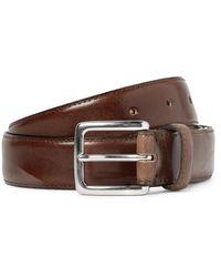 J.Crew 3cm Brown Leather Belt for men