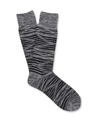 Mr Gray | Multicolor Space-dyed Ribbed-knit Socks for Men | Lyst