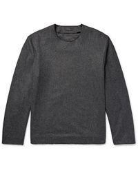 COS Gray Mélange Wool-blend Shirt for men