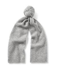 COS Gray Textured Alpaca-blend Scarf for men