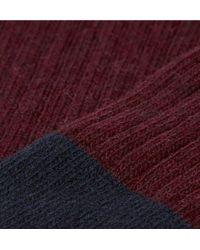 NN07 Multicolor Colour-block Wool-blend Socks for men