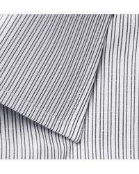 Tom Ford Gray Slim-fit Striped Cotton Shirt for men