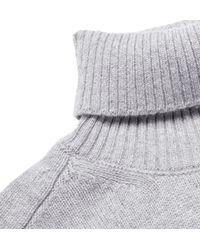 Tomas Maier Gray Mélange Cashmere Rollneck Sweater for men
