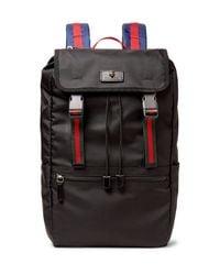 Gucci | Black Webbing-trimmed Nylon-canvas Backpack for Men | Lyst