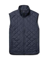 Dunhill Blue Quilted Shell Gilet for men