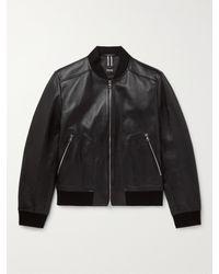 BOSS by Hugo Boss Black Leather Jacket for men