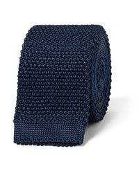 Burberry Blue 5cm Knitted Silk Tie for men