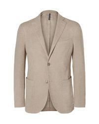 Incotex Natural Beige Slim-fit Linen And Cotton-blend Blazer for men