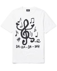 PS by Paul Smith | White Slim-fit Printed Cotton-jersey T-shirt for Men | Lyst