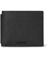 Lanvin Black Full-grain Leather Billfold Wallet for men
