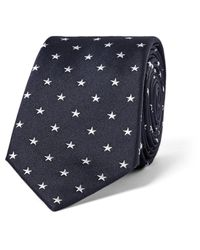 Paul Smith | Blue 6cm Star-embroidered Silk Tie for Men | Lyst