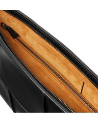 Bottega Veneta Black Intrecciato Leather Pouch for men
