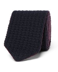 Ermenegildo Zegna - Blue 6cm Reversible Knitted Cashmere Tie for Men - Lyst
