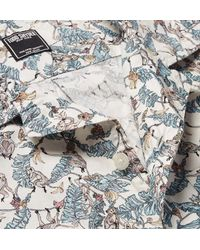 Todd Snyder Blue + Liberty Camp-collar Printed Cotton-poplin Shirt for men