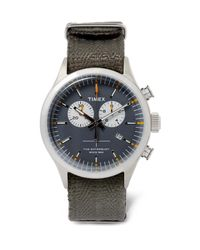 Timex | Metallic Archive Waterbury Stainless Steel And Webbing Watch for Men | Lyst