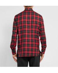 Neil Barrett - Check Shirt Red for Men - Lyst