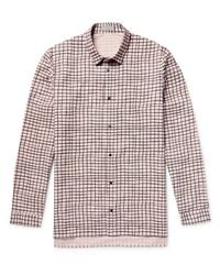 COS Pink Printed Cotton-poplin Shirt for men