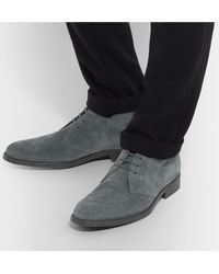 Tod's Gray Suede Chukka Boots for men