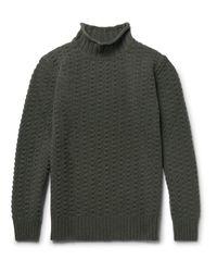 Inis Meáin Green Beairtíní Merino Wool Sweater for men
